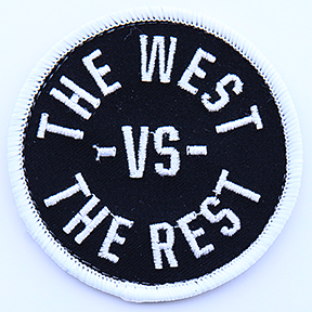 WEST vs THE REST Velcro Patch - Black & White