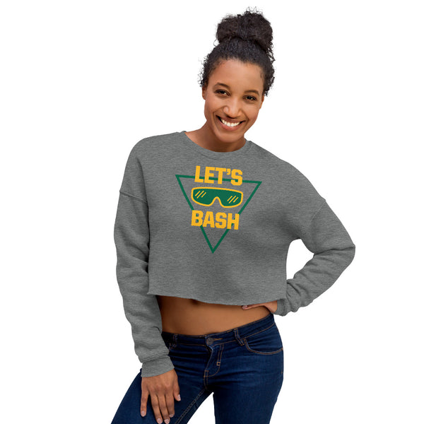 Let's Bash - Gray Crop Sweatshirt