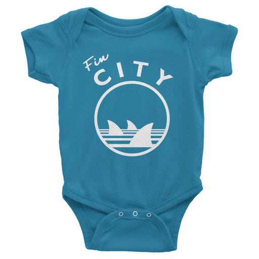 Fin City - Teal Onesie