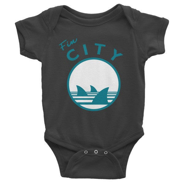 Fin City - Black Onesie