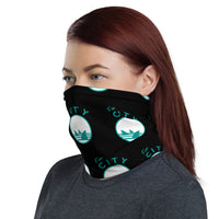 Fin City - OG Black Step Repeat Neck Gaiter