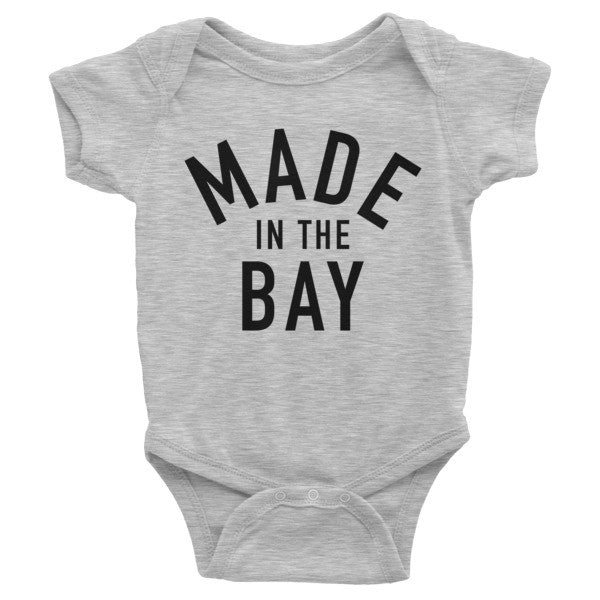 Made in the Bay - Heather Gray Onesie