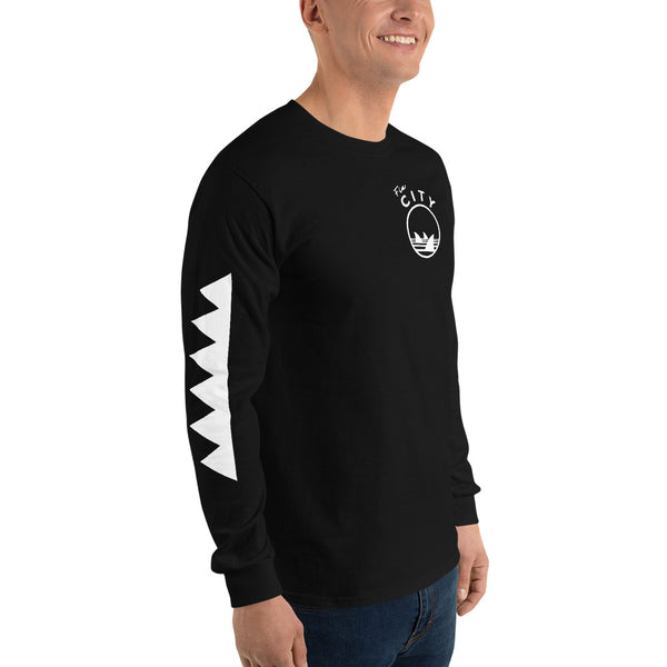 Fin City - Black Long Sleeve T-Shirt