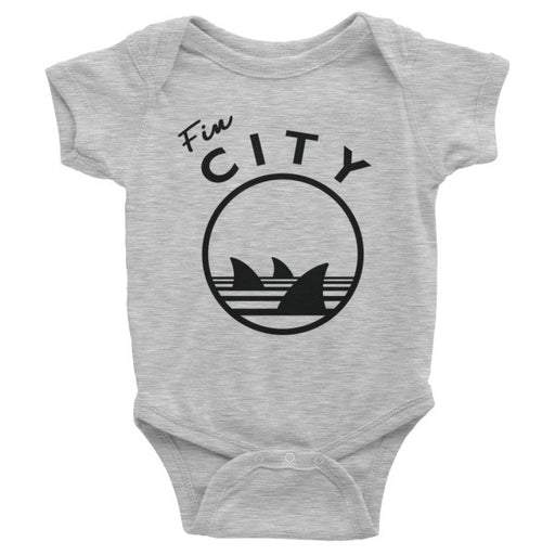 Fin City - Heather Gray Onesie