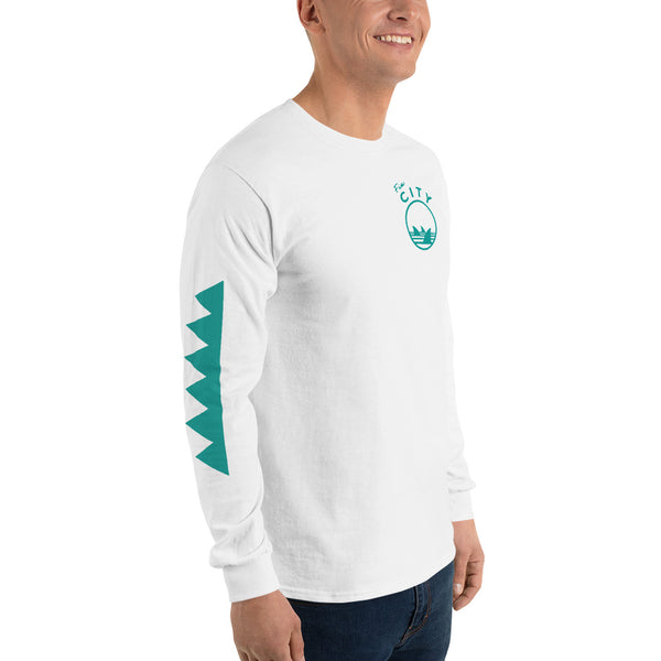 Fin City - Long Sleeve T-Shirt - Teal