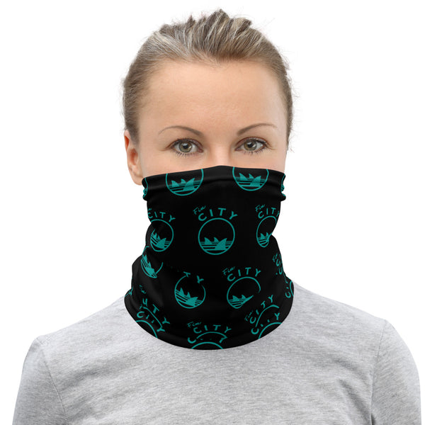 Fin City - Black Step Repeat Neck Gaiter