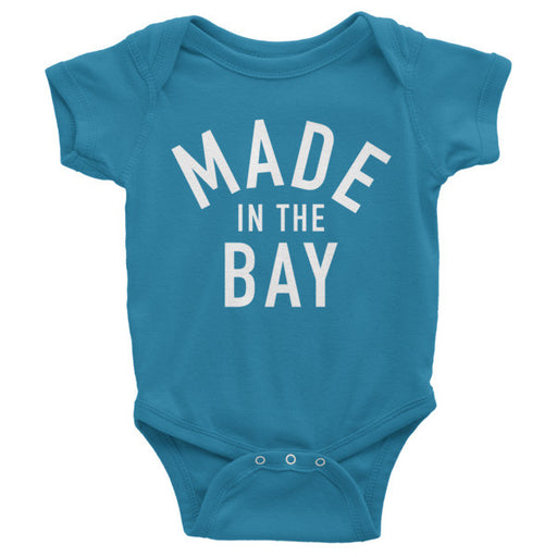 Made in the Bay - Teal Onesie