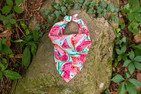 Watercolor Watermelon Bandana