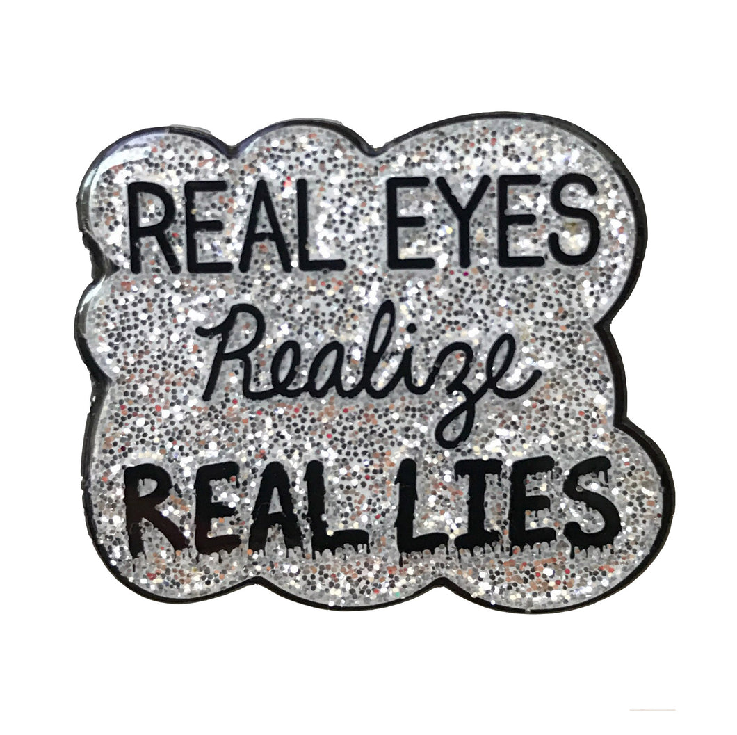 Real Eyes Pin - Glitter