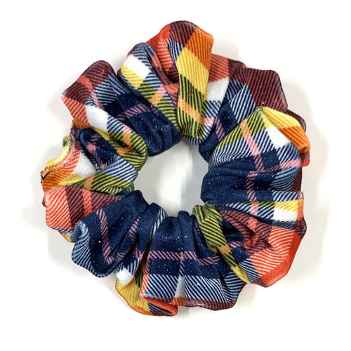 Velvet Scrunchie - Fall Plaid