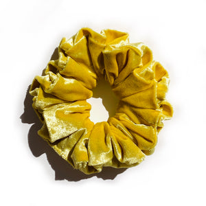 Velvet Scrunchie - Yellow Velvet