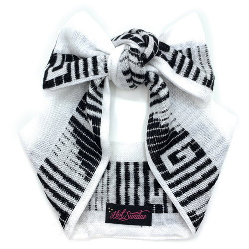 Sarape Head Wrap - White / Black