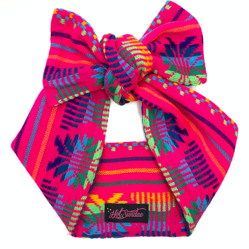 Sarape Head Wrap - Hot Pink