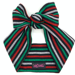 Sarape Head Wrap - Black Stripe