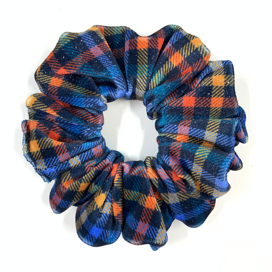 Velvet Scrunchie - Fall Gingham