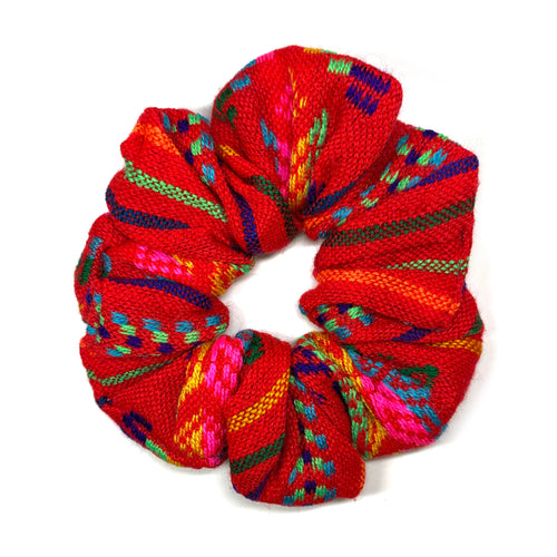Sarape Scrunchie - Red