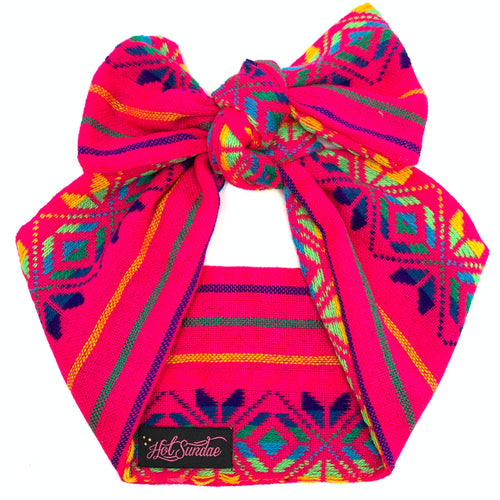 Sarape Head Wrap - Hot Pink Princesa
