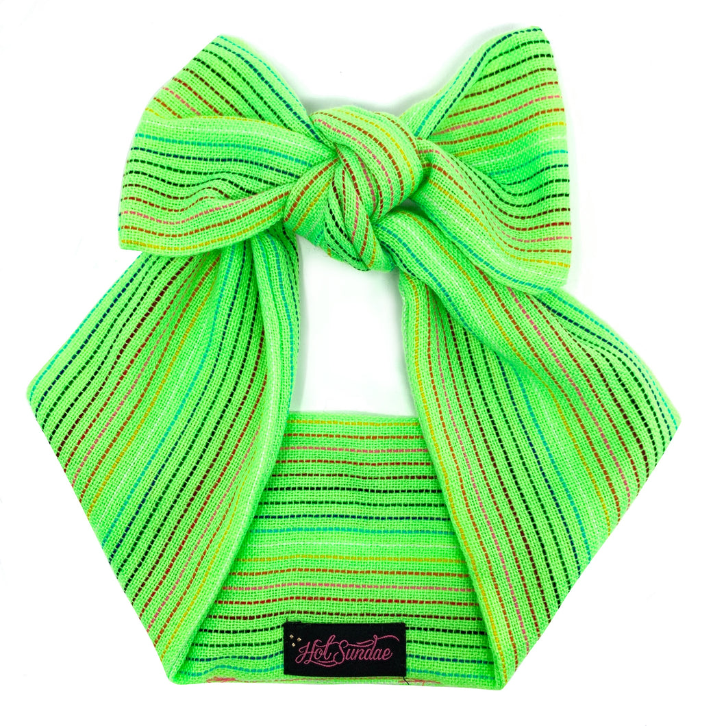 Sarape Head Wrap - Neon Green