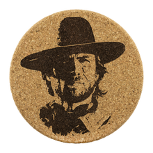 Load image into Gallery viewer, Josey Wales - Round Cork Coaster (set of 4)