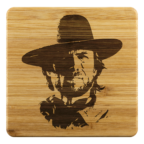 Josey Wales - Square Bamboo Coaster (set of 4)