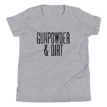 Load image into Gallery viewer, Gunpowder & Dirt - Youth Short Sleeve T-Shirt