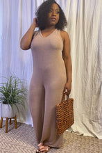 Load image into Gallery viewer, Laya Mocha jumpsuit