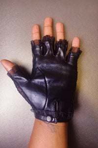 Dainty Dana lace & leather glove