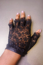 Load image into Gallery viewer, Dainty Dana lace & leather glove