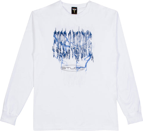 Metal Fizz Long Sleeve - White