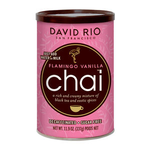 David Rio Flamingo vanilla Decaf Chai Sugar Free 11.9 oz