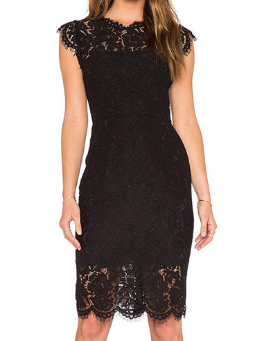 Women's  Lace Floral Elegant Cocktail Dress