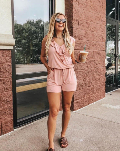 Ruffles Sleeveless Shorts Rompers