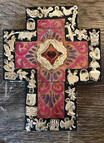 MIRACLE HAND PAINTED CROSS