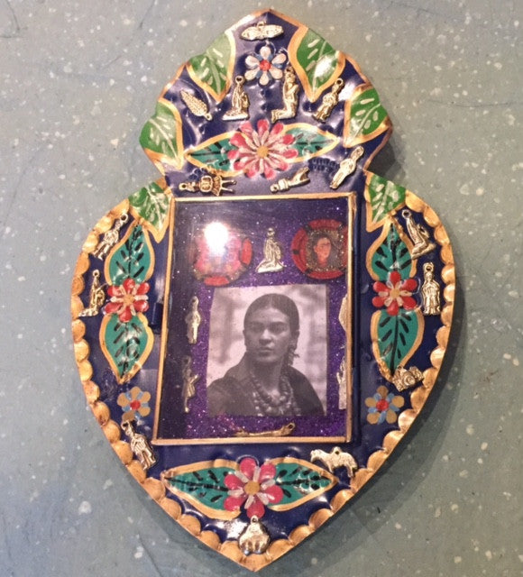 Mexican Frida Kahlo Heart Shadow Frame
