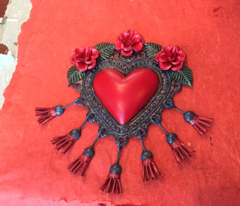 MEXICAN PASSIONATE TASSELED HEART