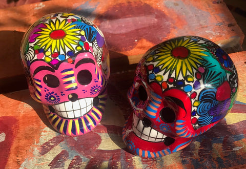 HIGH GLOSS MEXICAN SUGAR SKULL DAY OF THE DEAD