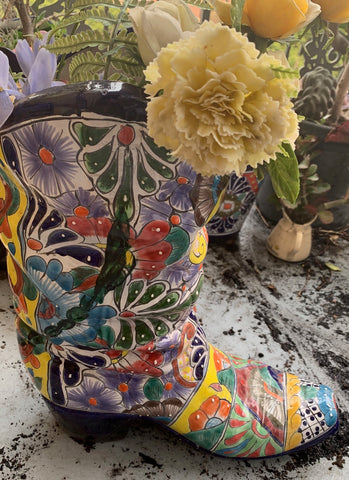 Mexican Ceramic Bootie Intangible Heritage of Humanity
