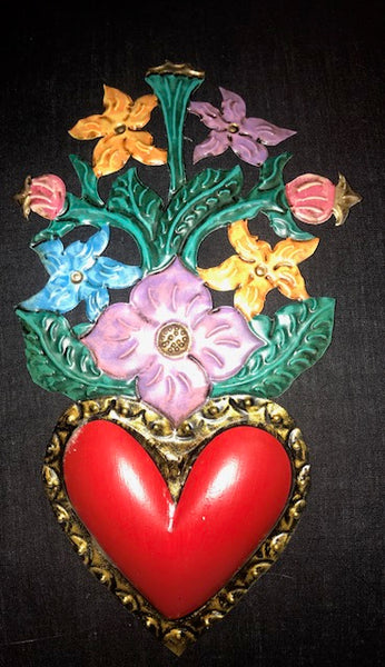 MEXICAN FLORAL HEART