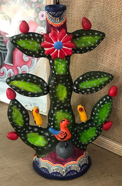 CACTUS MEXICAN CANDLEHOLDER