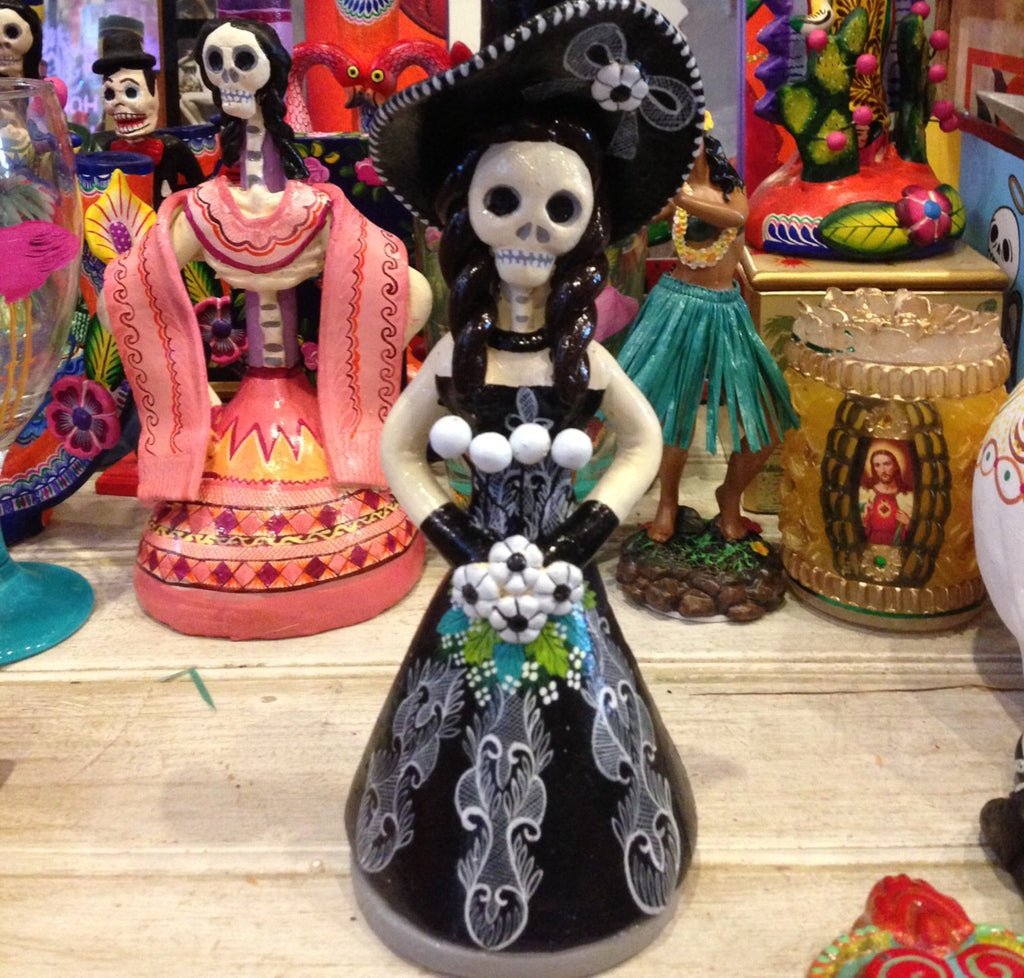 MEXICAN BLACK WIDOW CANDLEHOLDER by Isabella
