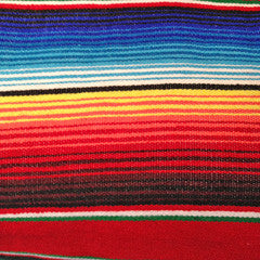 XL MEXICAN 100% COTTON HAND WOVEN THROW (NOT POLYESTER)