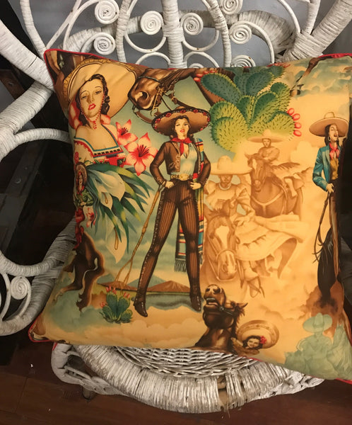 PIPED COWGIRL CUSHION