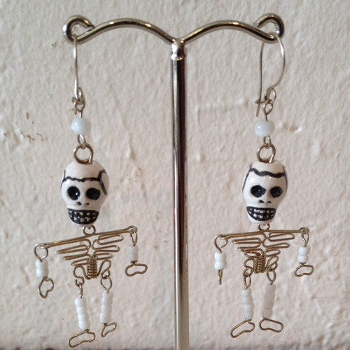 HAND CRAFTED SKELETON EARRINGS