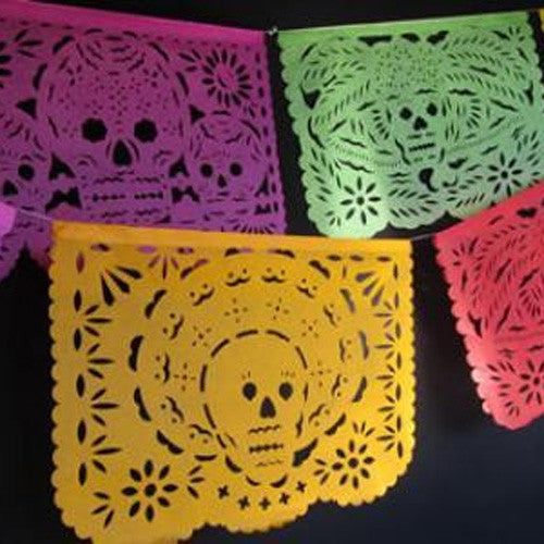 MEXICAN  DAY OF THE DEAD ARTIST CUT BUNTING