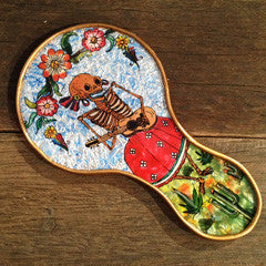 ARTIST'S DAY OF DEAD UKELELE HAND MIRROR