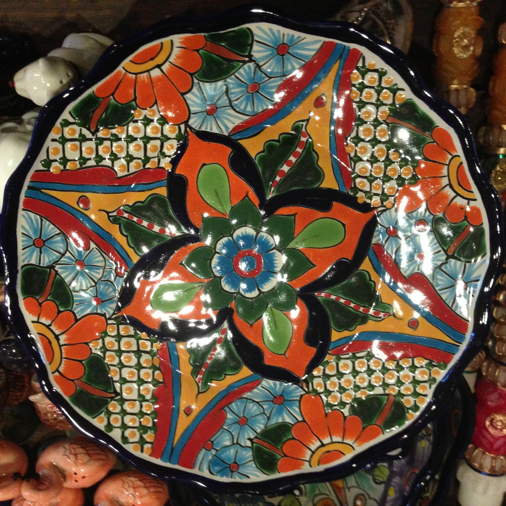 FAST & FEAST MEXICAN CERAMIC PLATE