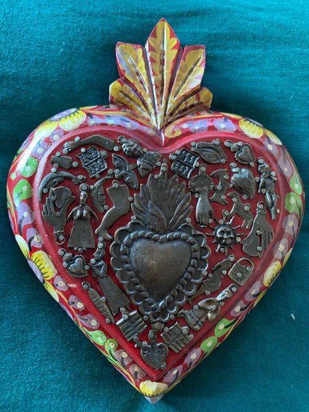 Mexican miraculous heart full of love