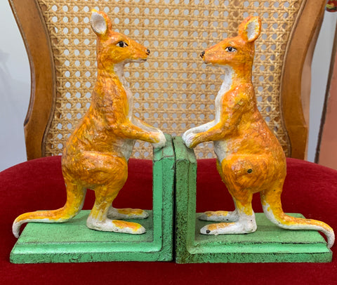 CAST IRON SKIPPY AUSTRALIANA BOOKENDS