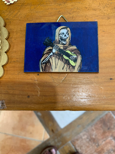 HAND PAINTED WALLET MIRROR
