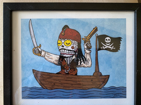 Day of Dead Pirate aka Johnny Depp Framed © SOLD OUT